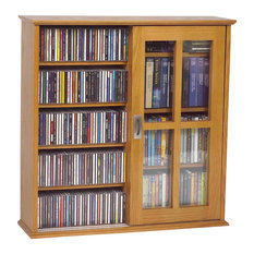 Leslie Dame   Leslie Dame Mission Wall Hanging Two Sliding Door CD/DVD  Cabinet