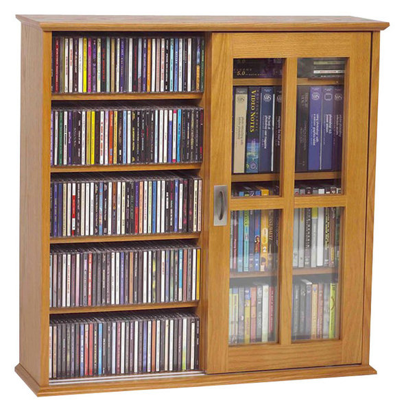 Ms 350 Wall Mounted Sliding Door Mission Style Media Storage