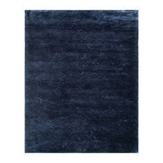 MOD - Kira Plush Geometric Tufted Area Rug, Navy Blue, 8'x10' - Area Rugs