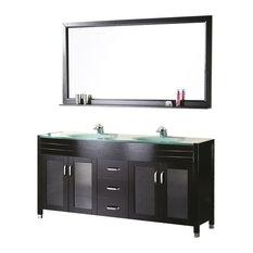 double sink bathroom vanity. DESIGN ELEMENT  Waterfall 60 Double Sink Vanity Set Espresso Bathroom Vanities and Houzz