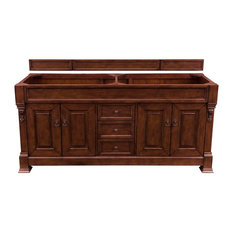 "Brookfield 72"" Double Cabinet Warm Cherry - Base Cabinet Only"