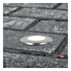 """1.5"""" Modern Low-Voltage 1-Watt Integrated LED Outdoor In-Ground Light"""