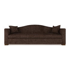Horatio 9' Crushed Velvet Sofa Chocolate Extra Deep