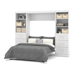 Atlin Designs 98 Quot Full Wall Bed Kit In Bark Gray And White