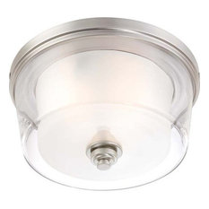 Nuvo 3-Light Decker Close-to-Ceiling Light Fixture, Brushed Nickel