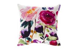 Red Rose Ecru Pillow