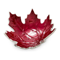 "Maple Leaf 6"" Petite Bowl, Pomegranate"