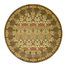 Traditional Stirling 6' Round Chestnut Area Rug