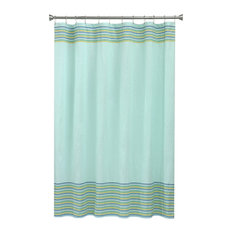 teal striped shower curtain. Bacova Guild  Seersucker Stripe Aqua Shower Curtain Curtains Striped Houzz