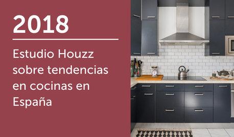 Estudio Houzz sobre tendencias en cocinas en España 2018
