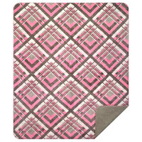 "Denali Pink & Gray Plaid/Light Gray Microplush Blanket, 60""x72"""