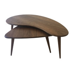 Mid-Century Modern Nesting Kidney Bean and Guitar Pick Coffee Tables