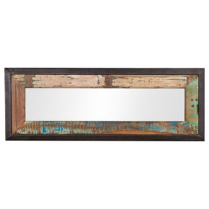 Urban Chic Reclaimed Wood Mirror, 120 x 90 x 3 Cm