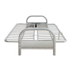 HomeRoots Furniture, Adjustable Sofa Frame, Metal, Silver