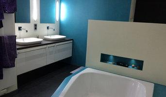 Fugenloses Badezimmer der Extraklasse
