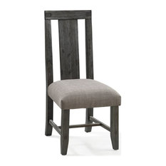 Modus Meadow Solid Wood Uphostered Armless Accent Chair In Graphite