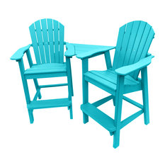 Phat Tommy Recycled Poly Balcony Chair Settee, Island Teal