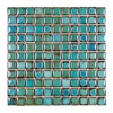 "11.8""x11.8"" Milano Aquos Porcelain Mosaic, Set of 10"