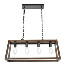 Bristol Wood Pendant Lamp, Walnut
