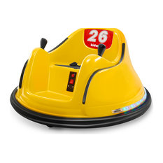 Race #00-99 6V Kids Toy Electric Ride On Bumper Car ASTM-certified, Yellow