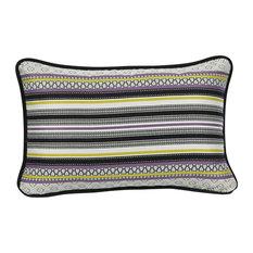 Farandole Rectangular Striped Cushion, Purple