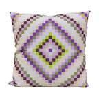 Paradise Almost Amish Geometric Throw Pillow 22x22 Quilt Bold Color Designer USA