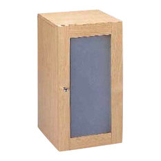 Vertical Cabinet With Frosted Glass Door
