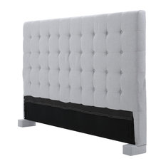 gdfstudio charleston fully upholstered king cal king headboard light gray headboards