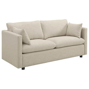 Activate Upholstered Fabric Sofa, Beige
