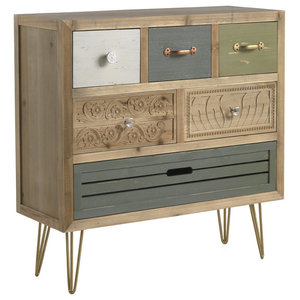 Textured Wooden Commode