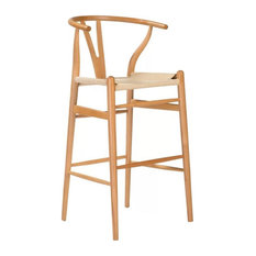 Woodcord Solid Wood Bar Stool