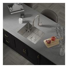 """27""""X18""""X10"""" KH2718 18 Gauge Stainless Steel Single Bowl Undermount Kitchen Sink"""