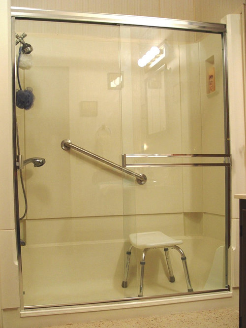 E Z Step Tub To Shower Conversion With A Frameless Shower