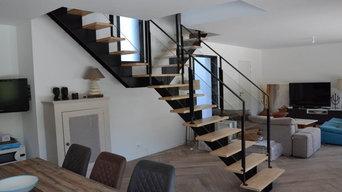 Escaliers Mixtes Bois/Métal
