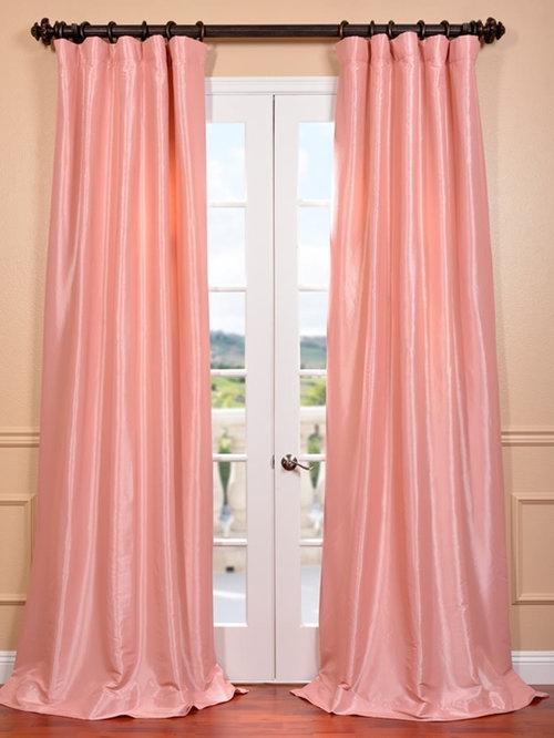 Faux Silk Taffeta Solid & Ruched Curtains