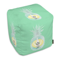 """Oliver Gal Maggie P. Chang """"Pineapple Peace"""" Ottoman, 18""""x18"""""""