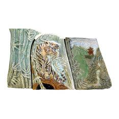 Ceramic Tile Mural, Tiger Bamboo, Back splash