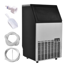Costway Built-In Stainless Steel Commercial Ice Maker Portable Ice Machine
