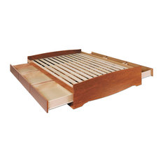 Mate's Platform Storage Bed, Cherry, King, With 6 Drawers