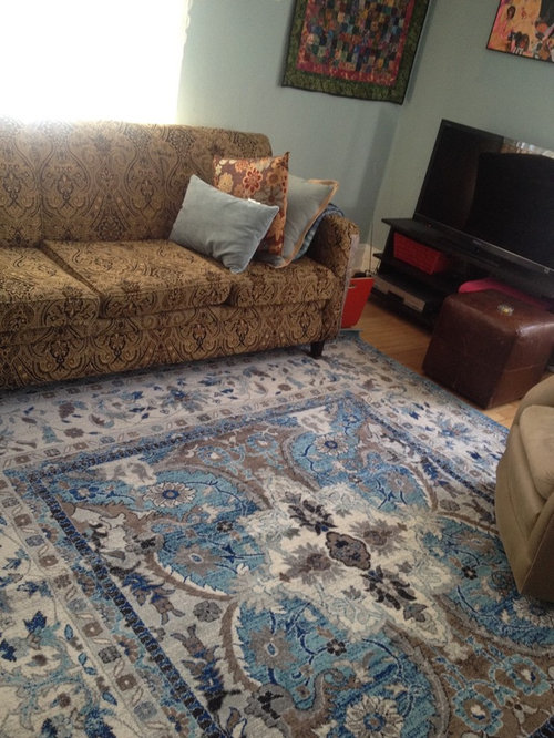 Outstanding No Luck Finding A Rug To Go With Strongly Patterned Sofa Ncnpc Chair Design For Home Ncnpcorg