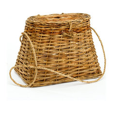 Cottage Rattan Fishing Creel Basket