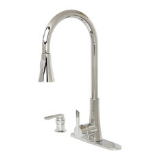 Modern Kitchen Pull-Out Faucet, Polished Chrome
