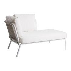 OASIQ YLAND Lounge, Frame: White, Rope: White, Cushions: Latern Slate