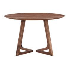Godenza Dining Table Round, Walnut