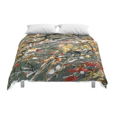 Society6 Jackson Pollock in terpretation Acrylics on Can Comforter, Full, 79