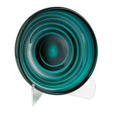 Vertigo Plate, Teal, Small