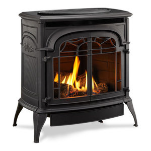 Sundance Vent Free Double Door Natural Gas Stove, Cast Classic Black