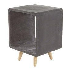 Brimfield & May - Contemporary Square Fiberclay Accent Table, Black - Side Tables and End Tables