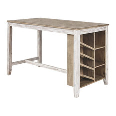 Ashley Skempton Counter Height Wine Rack Dining Table in White
