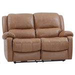 Oliver Pierce - Mervin Top Grain Leather Power Reclining Loveseat - Amply cushioned and luxuriously upholstered in buttery soft leather, this power reclining loveseat effortlessly blends classic styling with outstanding comfort.
